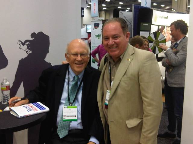 Past President of DATD poses with Ken Blanchard, author of coauthor of the One Minute Manager books among others